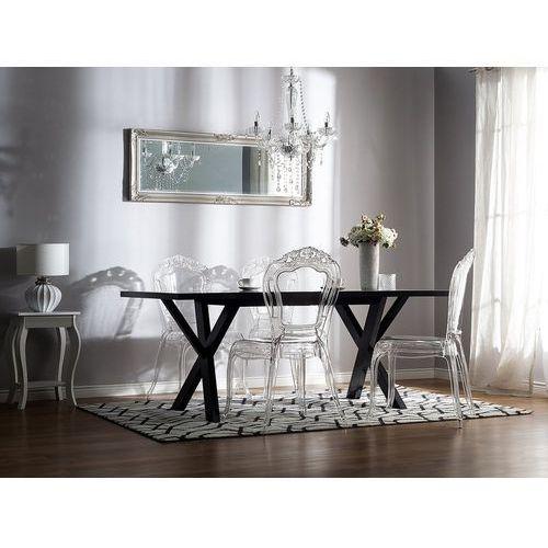 Beliani Zestaw krzeseł do jadalni transparentny 2 krzesła vermont