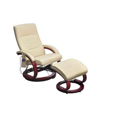 Vidaxl  fotel tv, elektryczny fotel do masażu w kolorze kremowym (8718475832706)