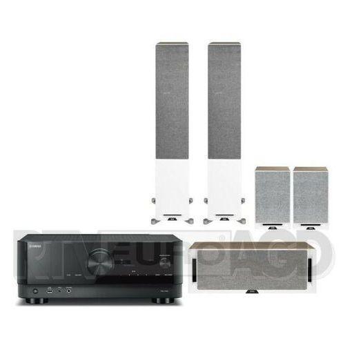Yamaha musiccast rx-v4a (czarny), elac debut reference (biały/orzech)