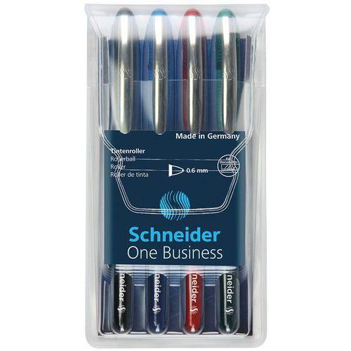 Schneider Zestaw piór kulkowych one business, 0,6 mm, 4szt., miks kolorów