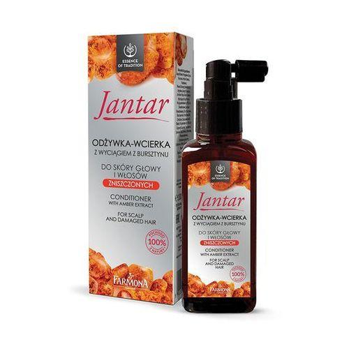 odżywka-wcierka z wyciągiem z bursztynu do skóry głowy i włosów zniszczonych 100ml marki Jantar