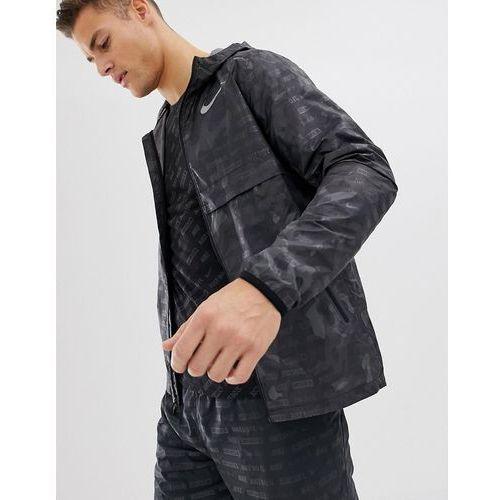 Nike running just do it reflective jacket in black camo ah5987-010 - black
