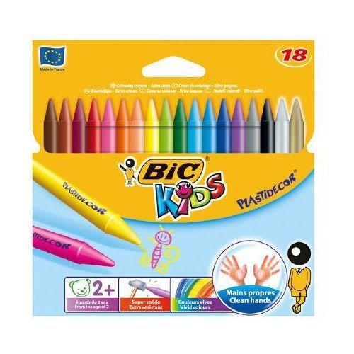 Kredki świecowe kids plastidecor 829771 18kol. marki Bic