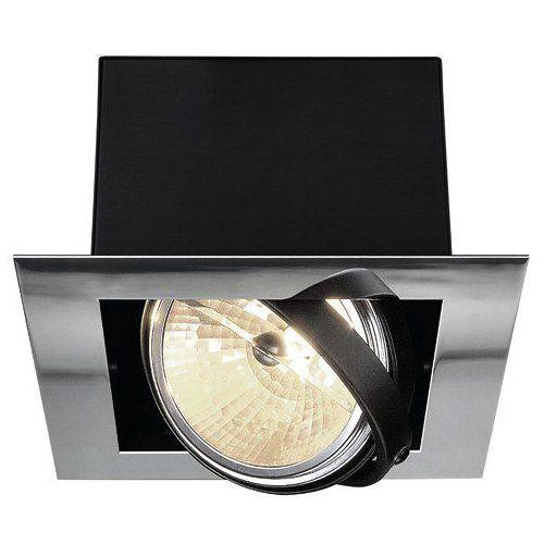 Lampa sufitowa spot Spotline Aixlight Flat 1x50W G53 QRB111 chrom/czarna 154622 (4024163112642)