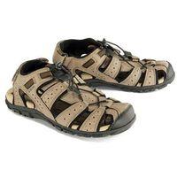 Geox u6224b sandal strada b c6088 taupe/black, sandały męskie