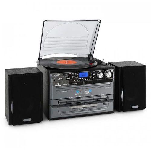 Auna mg-tc-386we wieża stereo mini wieża magnetofon, gramofon i odtwarzacz cd