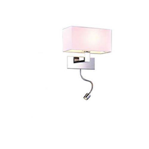 Azzardo martens az1526 mb2251-b-led-r wh kinkiet lampa oprawa ścienna 1x60w e27+1x1w led biały (5901238415268)