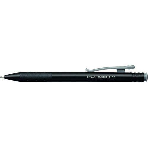 Długopis automatyczny x-ball fine 0,7mm, czarny marki Penac