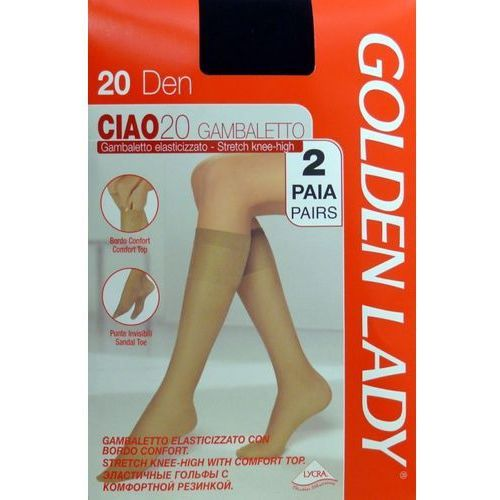 Podkolanówki| Golden Lady |Ciao 20 den uniwersalny, brązowy/camoscio, Golden Lady
