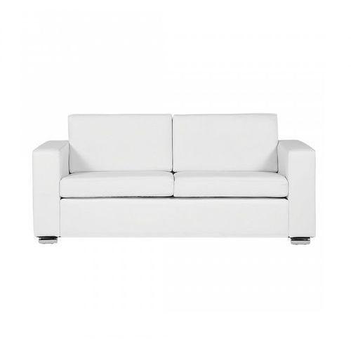 Sofa biała - kanapa - skórzana - trzyosobowa - wypoczynek - Gabriele