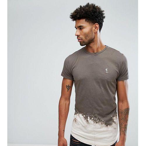 tall t-shirt with bleach curved hem - beige marki Religion