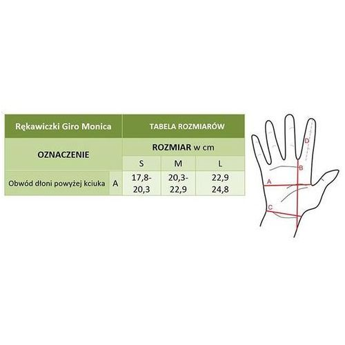 Rękawiczki Giro Monica damskie, czarno-szare M