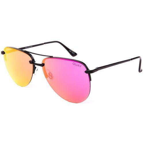 Okulary Słoneczne Quay Australia QW-000156 THE PLAYA BLK/PNK
