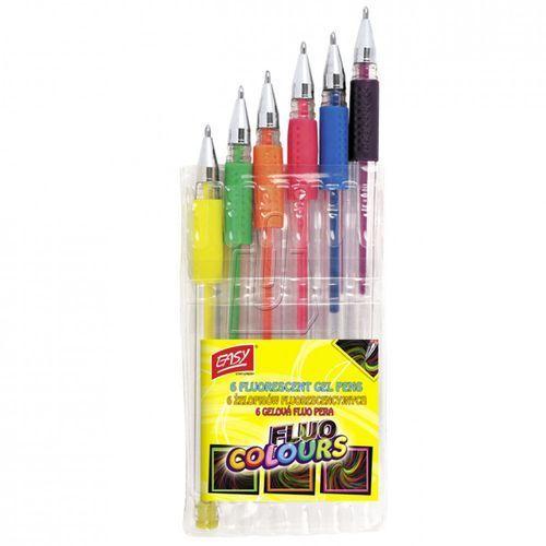 Easy, Żelopisy fluorescencyjne, 6 kolorów (5905339484512)