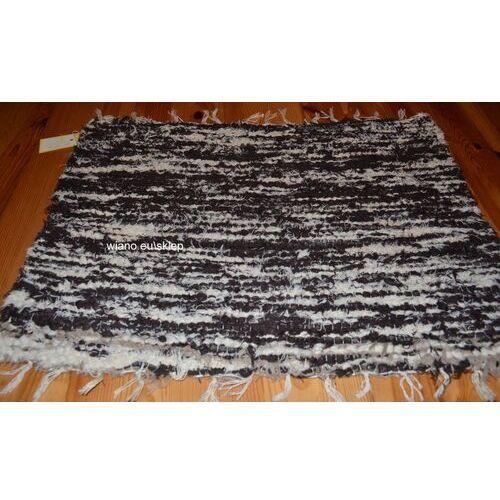 Chodnik bawełniany (wycieraczka) ręcznie tkany brąz-ecru 65x50 marki Twórczyni ludowa