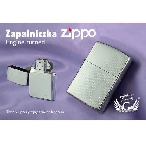 Zapalniczka engine turned high polish chrome marki Zippo
