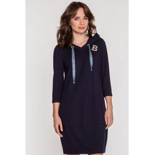 Sportowa sukienka z połyskującymi detalami - Vito Vergelis, 1 rozmiar