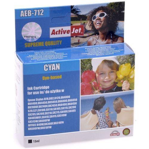 ActiveJet AEB-712N tusz cyan do drukarki Epson (zamiennik Epson T0712) Supreme- wysyłka dziś do godz.18:30. wysyłamy jak na wczoraj! (5904356294388)