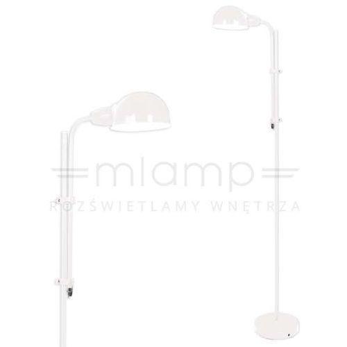 Nave Retro lampa podłogowa 2043923 metalowa oprawa stojąca biała