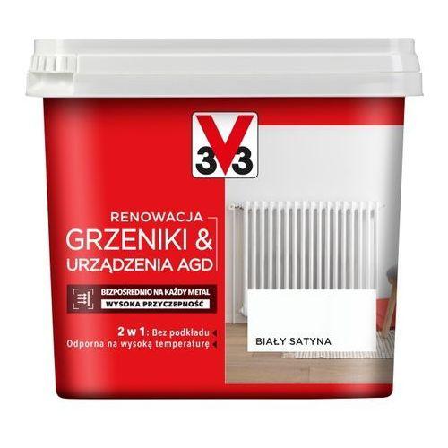 Farba renowacyjna V33 Grzejniki & AGD biały satyna 0,75 l (3153895117975)