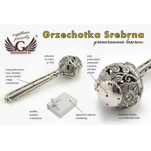 Grzechotka srebro - pamiątka chrztu świętego - wzór srb012 marki -