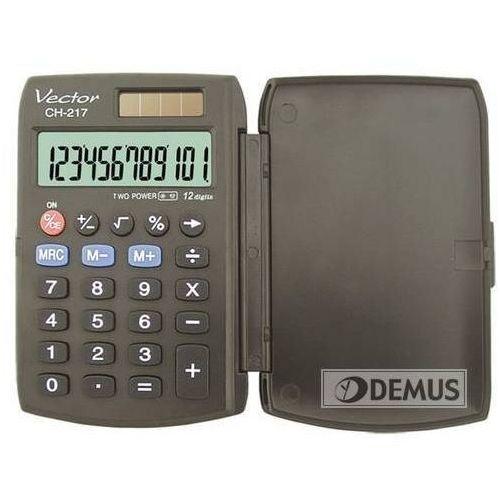 Artykuły biurowe - 12 - pozycyjny wyświetlacz- podwójne zasilanie- klawisz cofania- pamięć- obliczenia procentowe- zamykana, sztywna obudowa- gumowe przyciski- wymiary 95 x 63 x 10 mm- 6 lat gwarancji