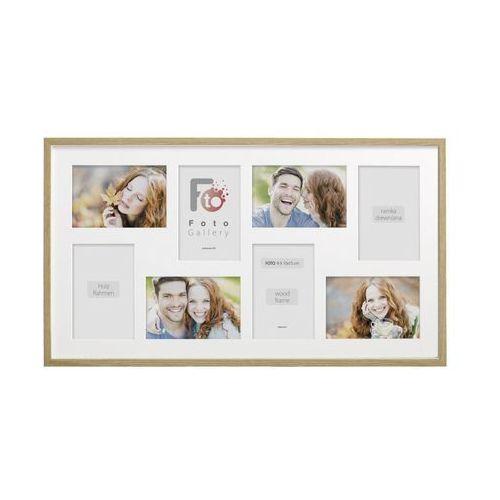 Multiramka na 8 zdjęć 62 x 35 cm dąb drewniana (5908225138780)