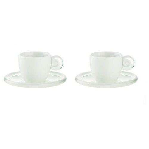 Guzzini - Gocce - kpl. 2 filiżanek do espresso, biały - biały