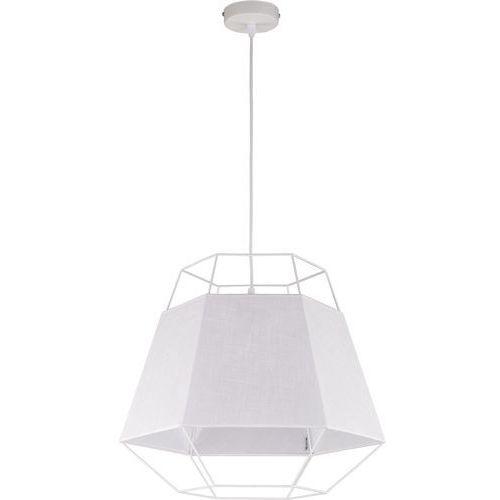 Lampa wisząca druciana zwis oprawa diament TK Lighting Cristal White 1x60W E27 biała 1851 (5901780518516)