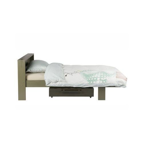 Woood łóżko + szuflada derk zielony leśny - woood 365644-fc