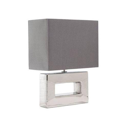 Beliani Nowoczesna lampka nocna - lampa stojąca w kolorze srebrnym - onyx (7081452347755)