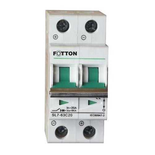 """Centropol """"fotton"""" Bezpiecznik - wyłącznik nadprądowy fotton sl7 2p 25a 800v dc"""