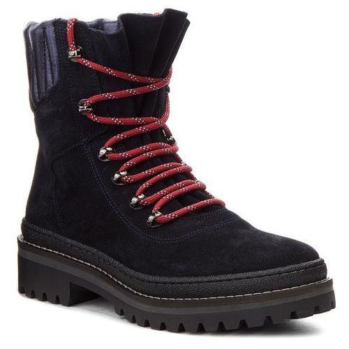 Trapery TOMMY HILFIGER - Modern Hiking Boot Suede FW0FW03048 Midnight 403, kolor niebieski