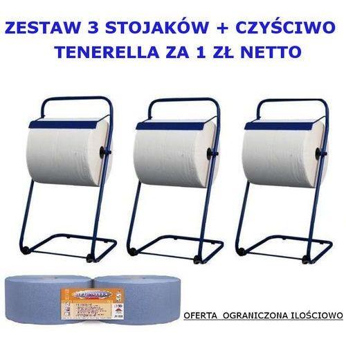 Zestaw trzech stojaków na czyściwa czyściwo TENERELLA za 1zł netto, zestaw/3stojak,czysciwo