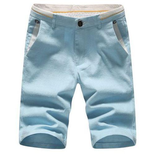Plus size embroidered selvedge embellished zipper fly straight leg shorts for men wyprodukowany przez Rosewholesale