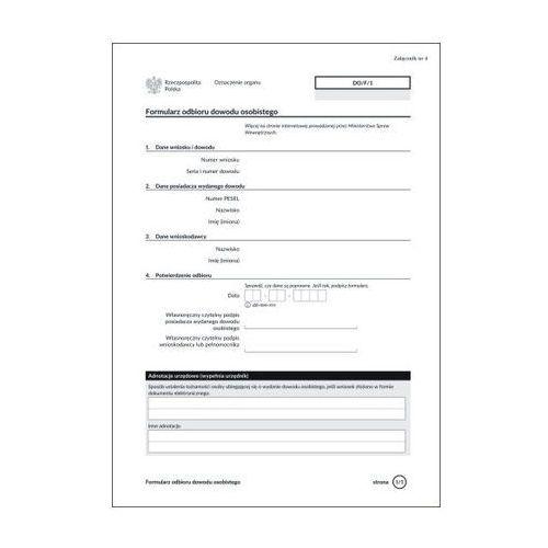 Formularz odbioru dowodu osobistego [Do/F/1]