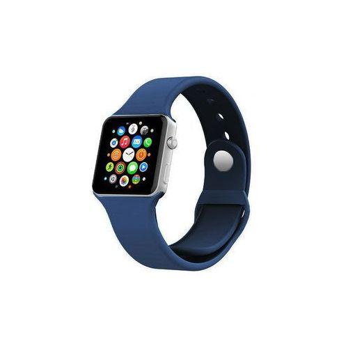 GRANATOWY Sportowy silikonowy pasek do Apple Watch 38mm - Granatowy