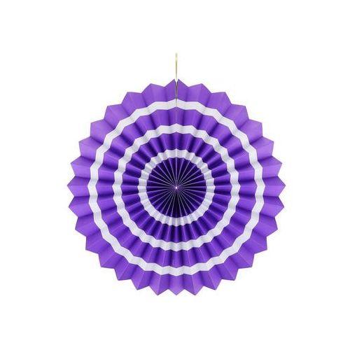 Dekoracja wisząca rozetka lawendowo - biała - 40 cm - 1 szt. marki Godan