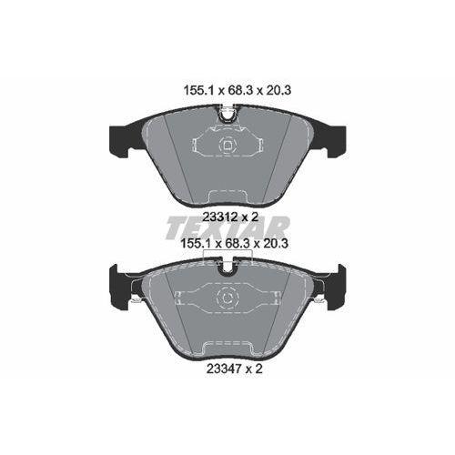 TEXTAR - Zestaw klocków hamulcowych, hamulce tarczowe (4019722295096)