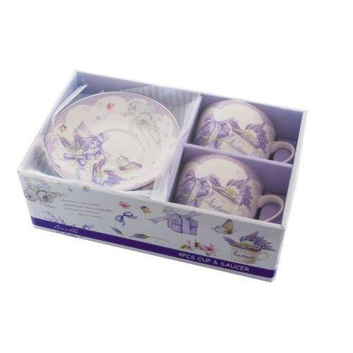 2 filiżanki z porcelany lawenda prezent walentynki marki Livello