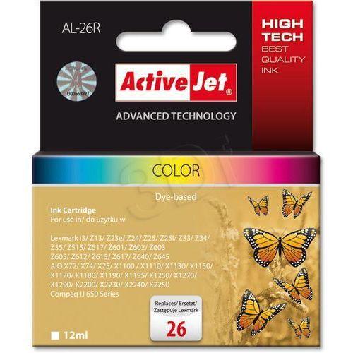 Tusz ActiveJet AL-26R kolorowy do drukarki Lexmark - zamiennik Lexmark 26 10N0026