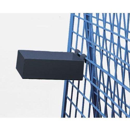Skrzynka na materiały, nośność 25 kg, dł. x szer. x wys. 150x250x80 mm, antracyt
