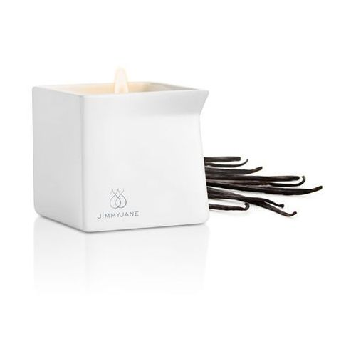 Świeca zapachowa z olejkiem do masażu - ciemna wanilia - dark vanilla marki Jimmyjane