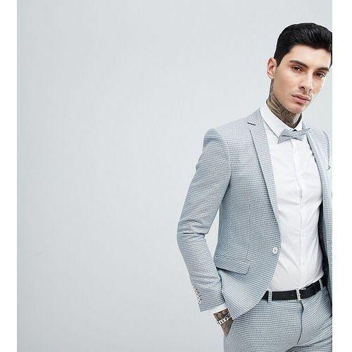super skinny wedding suit jacket in dogstooth - blue, Heart & dagger