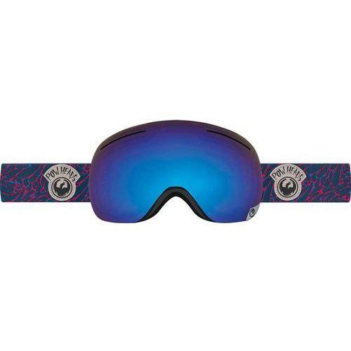 Dragon Gogle snowboardowe  - x1 - pow heads red/blue steel + yellow red ion (447)