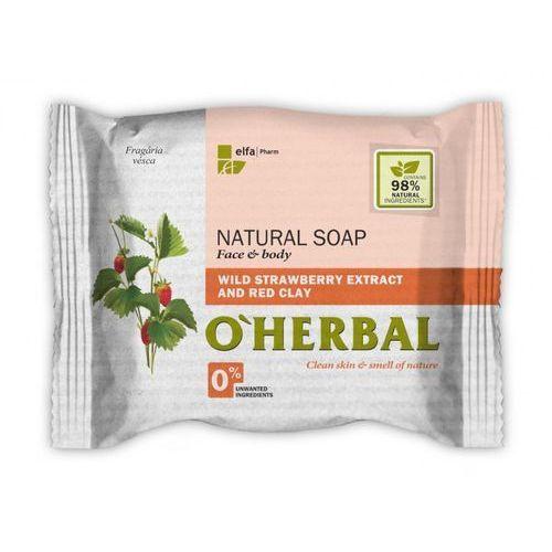 O'herbal - naturalne mydło z ekstraktem z poziomek leśnych i czerwoną glinką 100g marki Elfa pharm