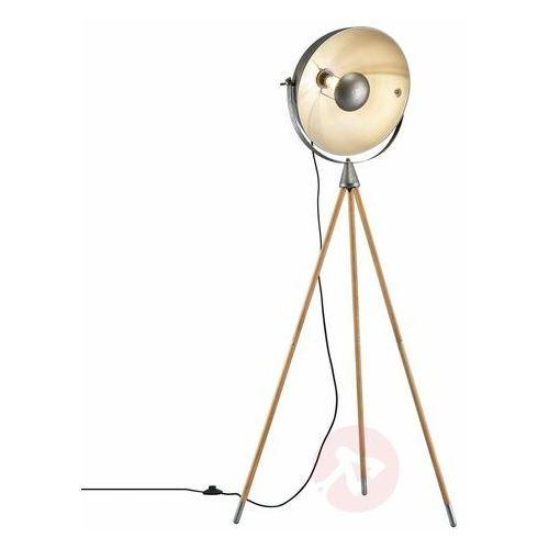 Lampa Stojąca Trio Leuchten DELHI Nikiel matowy, 1-punktowy - Vintage - Obszar wewnętrzny - DELHI - Czas dostawy: od 2-3 tygodni (4017807426854)