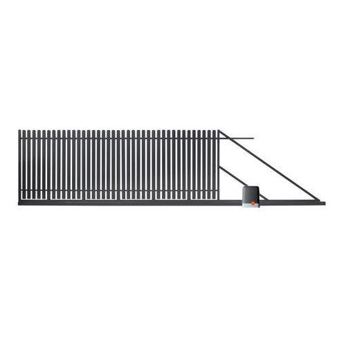 Brama przesuwna z automatem Polbram Steel Group Daria 2 400 x 150 cm prawa