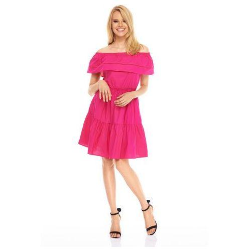 Sukienka Cascara w kolorze fuksjowym