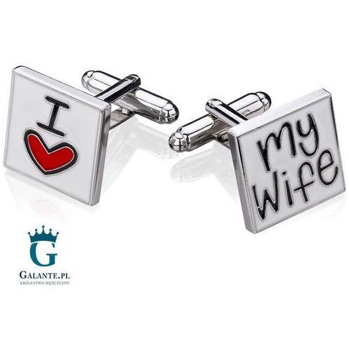 Oryginalne spinki do mankietów I Love My Wife, SH-1002/113